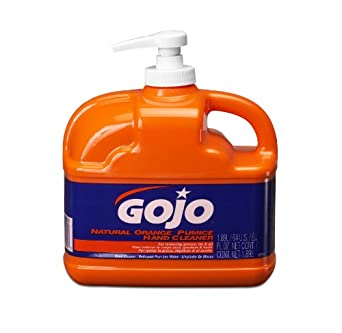 GOJO 0958 – 06 64 oz. Natural naranja piedra pómez limpiador de mano (Pack