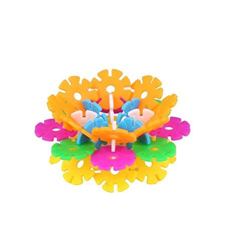divine man interlocking snowflakes model building block creative educational toy for kids  Multi color