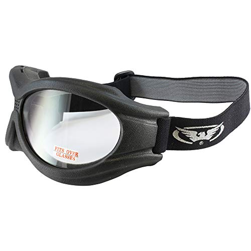 - Global Vision Big Ben Motorcycle Goggles (Black Frame/Clear Lens) (BIGBENCL)