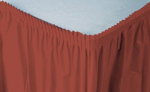 Gathered Plastic Table Skirt - 5