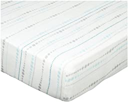 aden + anais silky soft crib sheet, azure beads