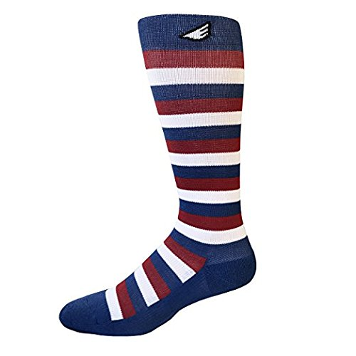 Mens Graduated Compression Recovery & Support Socks, 15-20mmHg, Enhanced Blood Flow & Circulation - High Quality Cotton, Made in USA (Red, White & Blue)