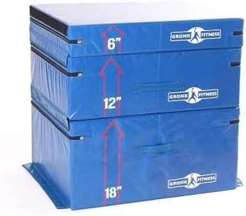 Gronk Fitness Soft Plyo Box Set. 6 12 18 – Commercial Grade