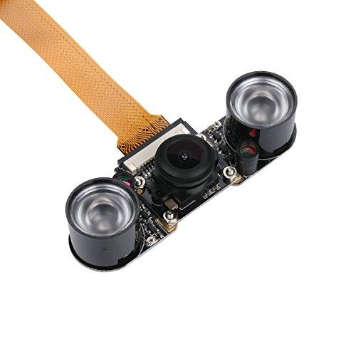 Raspberry Pi Zero Camera Fisheye Wide Angle 5MP 1080p Night Vision Camera Module for Raspberry Pi Zero W