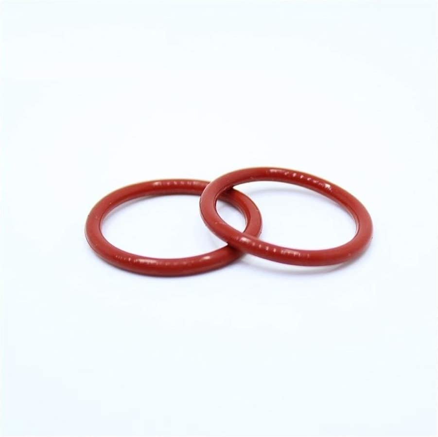 YINGJUN CS2mm Silicone O Ring OD 5 5.5 6 6.5 7 7.5 8 8.5 9x2mm O-Ring VMQ Gasket Seal Thickness 100PCS O Ring White Red Rubber Ring Gasket Size : OD5.5x2mm Red