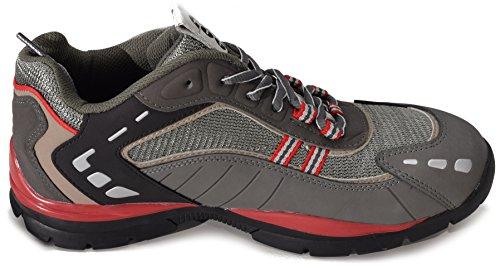 Goodyear Gyshu3011 - Zapatos de Seguridad adultos unisex gris, negro, rojo