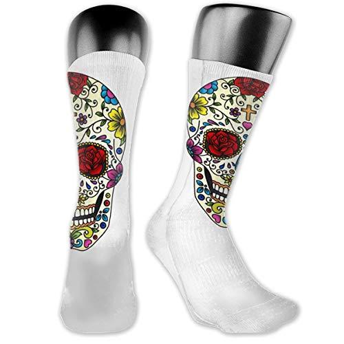 Unisex Performance Cushion Crew Socks Tube Socks Sugar Skull Art New Middle High Socks Sport Gym Socks]()