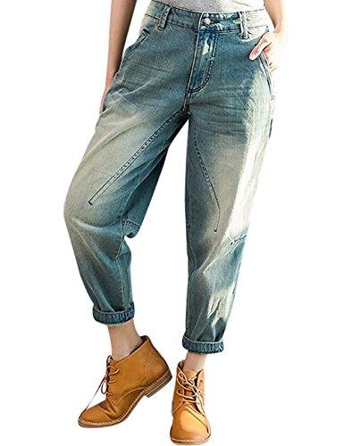 Jeans 5 Harén Pantalones Con Cool Mujeres Estilo Bolsillos Youlee De q6Tnv1wEEx