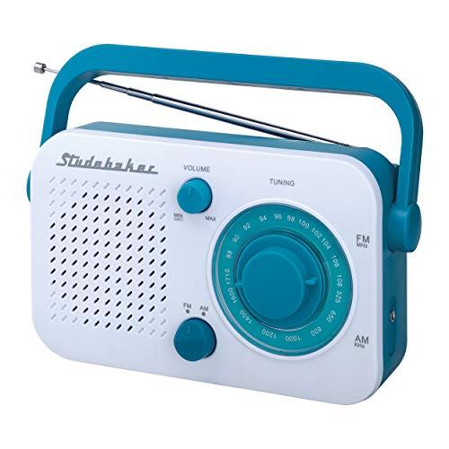 Portable AM/FM Radio (White) Studebaker SB2001