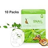 Farm Stay Korean Deep Moisturizing Rich Snail Mucin Visible Face Facial Daily Mask Sheet [ 10 Packs ] 23ml/0.78 fl.oz