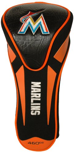 Team Golf MLB Miami Marlins Golf Club Single Apex Driver Headcover, Fits All Oversized Clubs, Truly Sleek Design