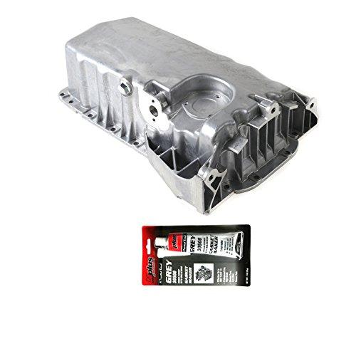 Engine Oil Pan & Drain Plug Kit for 2000-2006 VW Golf & 2000-2002 Audi TT & 2000-2003 VW Jetta 1.8L L4#038103601AQ (Golf Oil Vw)