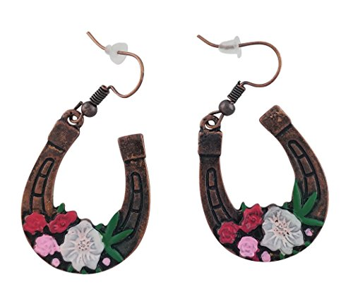 Western Rodeo Sweetheart Lucky Horseshoe Earrings by Southern Trace Apparel LLC