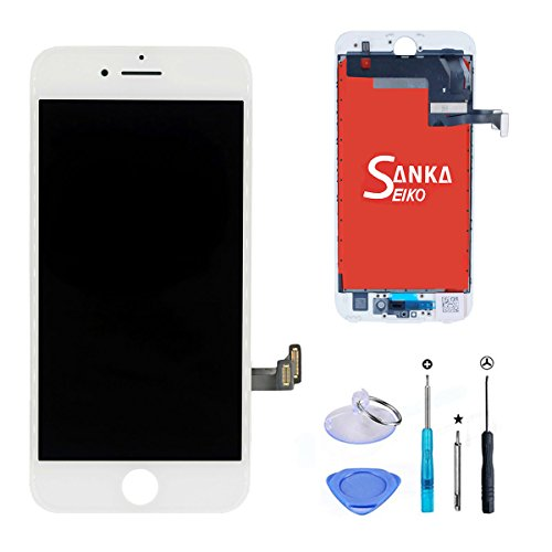 (SANKA iPhone 7 LCD Display Screen Replacement Repair Kit, Digitizer Retina 3D Touch Screen Glass Frame Assembly for iPhone 7,4.7