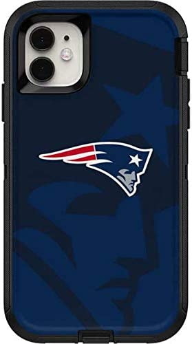 Skinit Decal Skin Compatible with OtterBox Defender iPhone 11 Case - Officially Licensed NFL New England Patriots Double Vision Design