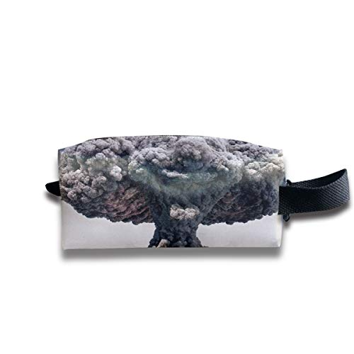 Small Toiletry Bag Atomic Mushroom Cloud,Pencil Case,Travel Essentials Bag,Dopp Kit Bag For Men And Women With Handle