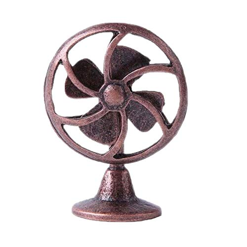 - Electric Fan Model Maserfaliw Dollhouse Miniature 1:12 Retro Alloy Electric Fan Home Furniture Accessory Decor - Red Copper, Home Life, Office, Holiday Gifts.