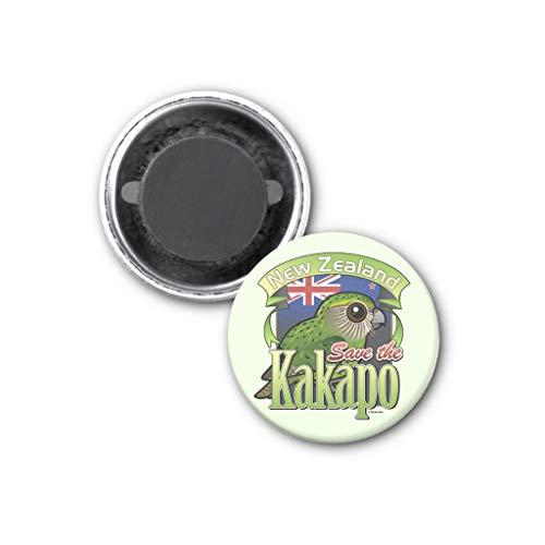Zazzle Save the New Zealand Kakapo Magnet, 1.25