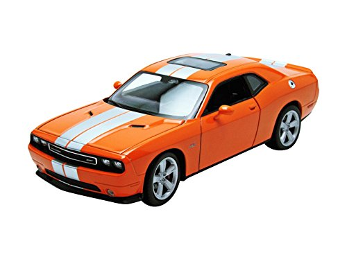Welly 2013 Dodge Challenger SRT Hard Top 1/24 Scale Diecast Model Car Orange