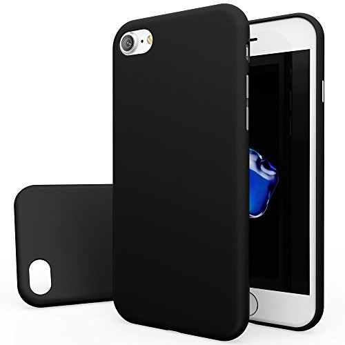 Black Rubberized Plastic Case (Apple iPhone 7 Case, [BLACK] Slim & Protective Rubberized Matte Finish Snap-on Hard Polycarbonate Plastic Case)