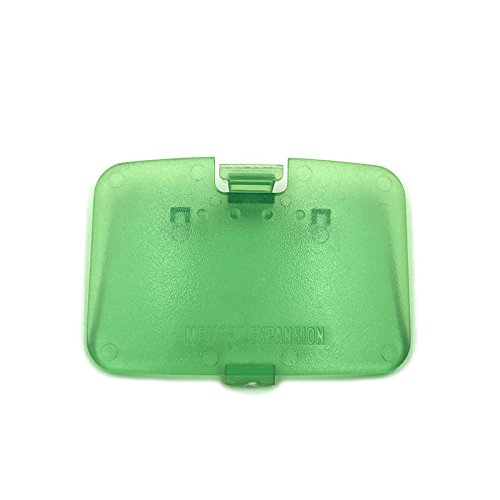 Replacement Jumper Pak Memory Expansion Door Cover Lid Part for Nintendo 64 N64 (Clear Green)