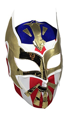 SIN CARA Youth Lucha Libre Wrestling Mask - KIDS Costume Wear - USA by Mask Maniac