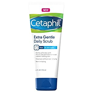 Extra Gentle Daily Scrub - Gently Exfoliates & Cleanses Without Over-drying - For All Skin Types - Non-Irritating & Hypoallergenic - Suitable For Sensitive Skin 6 oz, 2 Count
