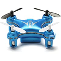EACHINE E10 Mini Quadcopter 2.4G 4CH 6 Axis LED Headless Mode Remote Control Nano Quadcopter Drone RTF Mode 2 (Blue)