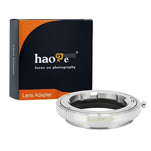 Haoge Manual Lens Mount Adapter for Leica M LM, Zeiss ZM, Voigtlander VM Lens to Leica L Mount Camera Such as T, Typ 701, Typ701, TL, TL2, CL (2017), SL, Typ 601, Typ601, Panasonic S1 / S1R ()