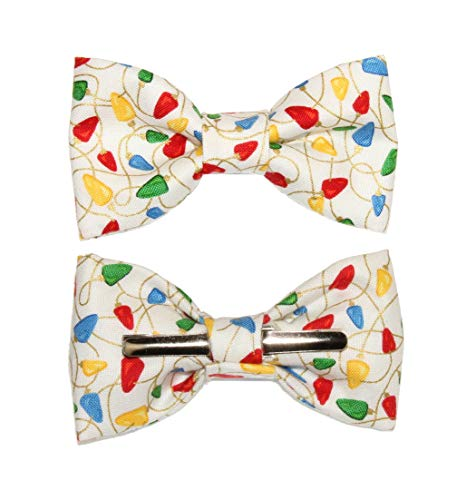 Toddler Boy 4T 5T Colorful Holiday Lights Clip On Cotton Bow Tie Bowtie