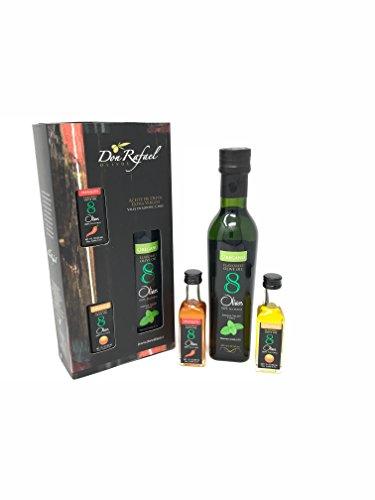 8Olivos Premuim Extra Virgin Flavored Olive Oil Gift Set Award Winning Tri-Pack Cold Press (Oregano)