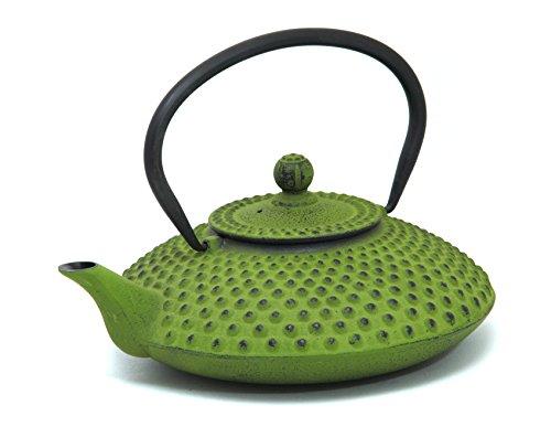 Guro Green Cast Iron Teapot 41 Ounces 1.2L Kettle Hira