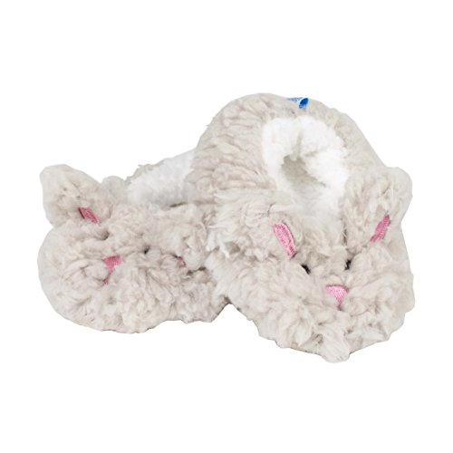 Baby Bunny Slippers - Snoozies Baby Sherpa Animal Non-Skid Slipper Socks- Bunny, Small (0/3 Months)