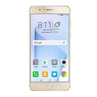 Huawei Honor 8 Unlocked Smartphone 64 GB Dual Camera US Warranty (Sunrise Gold)