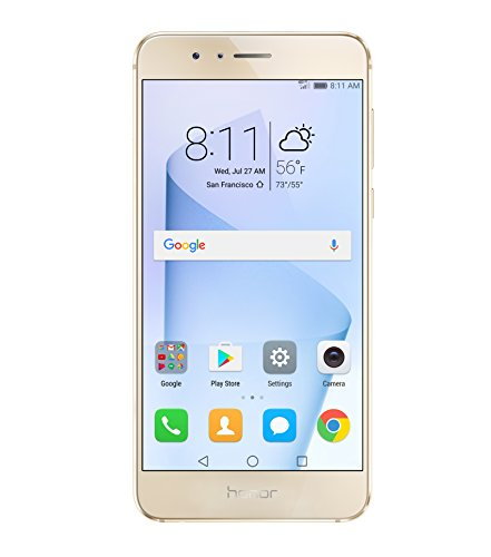 Huawei Honor 8 4G LTE with 64GB Memory Cell Phone (Unlocked) Sunrise Gold FRD-L14