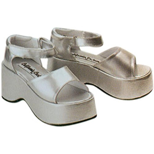 Child's Silver Diva Halloween Costume Shoes (Size: Medium)