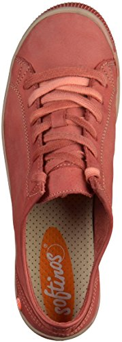 Softinos Isla Dames Derby Lace Up Brogues Rood
