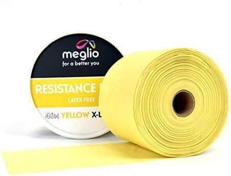 Meglio Libre de látex Banda de Resistencia Rollo de 46 m Premium para fisioterapeutas para Cortar hasta la Longitud necesaria
