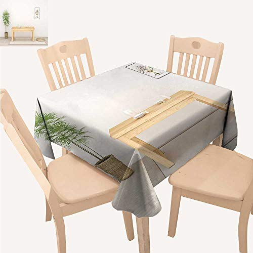 UHOO2018 Decorative Tablecloth Brief Indoor Background Square/Rectangle Kitchen Tablecloth Picnic Cloth,50x 50inch