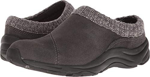 Vionic Orthotic Water-Resistant Clogs w/Knit Collar - Action Arbor (Grey) (9 B(M) US)