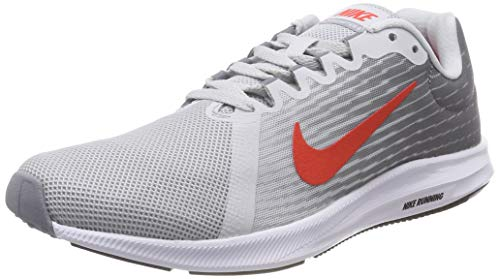 - Nike Men's Downshifter 8 Running Shoe (12 M US, Pure Platinum/Habanero RED)
