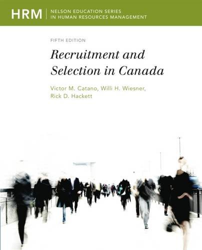 Buy cheap recruitment and selection canada nelson series human resources management