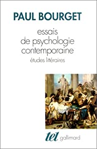 Essais de psychologie contemporaine par Paul Bourget