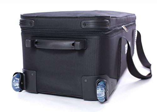 "416XBby8yCL - Fovitec - 1x Professional Photography & Video Lighting Equipment Roller Bag - [43"" x 13"" x 11""][EZ Glide Wheels][Durable Webbed Nylon][Fleece Lining]"