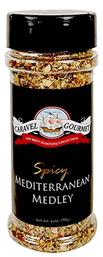 Spicy Mediterranean Medley Shaker - Classic Flavors of Mediterranean Cuisine - Kosher, Gluten-Free, Non-GMO, No MSG - A Dry Rub, Marinade, or Seasoning - 4 total oz.