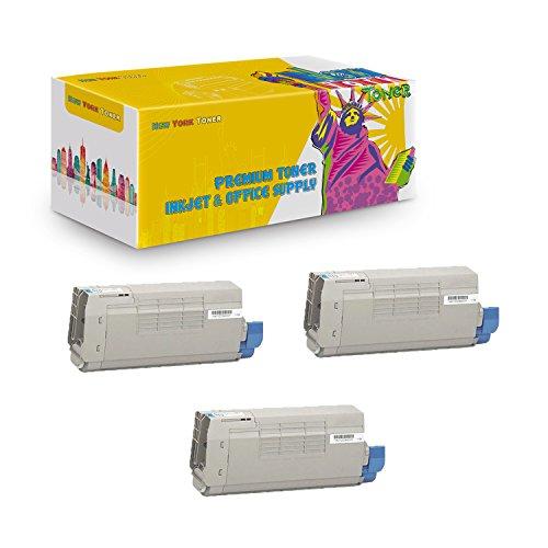 New York TonerTM New Compatible 3 Pack 44318603 High Yield Toner for Oki-Okidata : C711 | C711N | C711DN | C711DTN. -