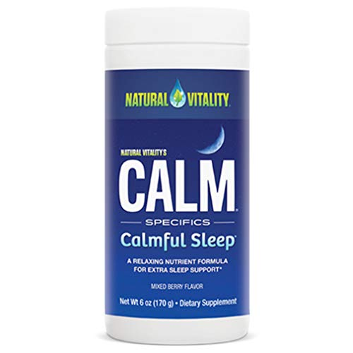 Natural Vitality Natural Calm Calmful Sleep Magnesium Anti Stress Extra Sleep Support, Organic, Wildberry, 4 oz
