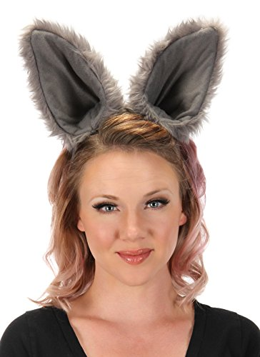 Elope Wolf Ears Costume Headband Gray for Men and Women -
