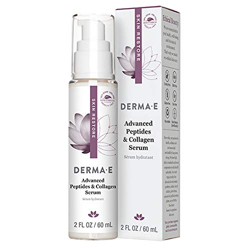 DERMA E Advanced Peptides & Collagen Serum, Double-action infused facial serum works all over the day/in a single day -Firming anti-wrinkle pores and skin & eye toning. Smooths the glance of wrinkles and deep strains