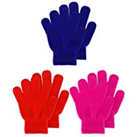 3 Pairs Kids Gloves Full Fingers Knitted Gloves Warm Mitten Winter Favor for Little Boys and Girls